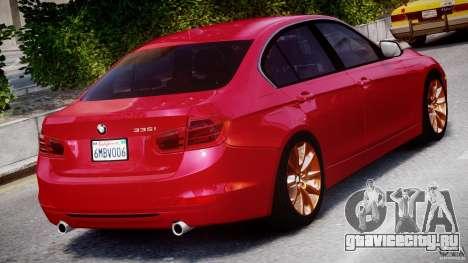 BMW 335i E30 2012 Sport Line v1.0 для GTA 4 вид сверху