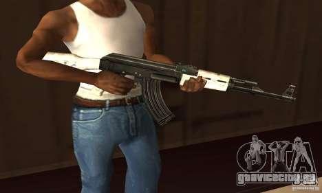 Snow AK47 (Снежный АК47) для GTA San Andreas второй скриншот