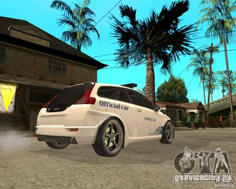 VOLVO C30 SAFETY CAR STCC v2.0 для GTA San Andreas