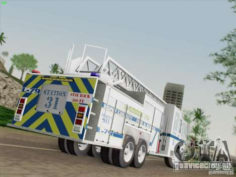 Pierce Puc Aerials. Bone County Fire & Ladder 79 для GTA San Andreas вид слева