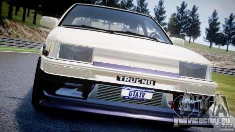 Toyota AE86 TRUENO Initial D для GTA 4 двигатель