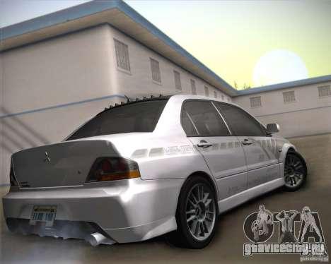 Mitsubishi Lancer Evolution IX Tunable для GTA San Andreas вид сверху