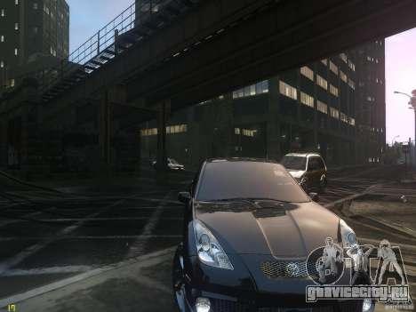 Toyota Celica для GTA 4 вид сзади