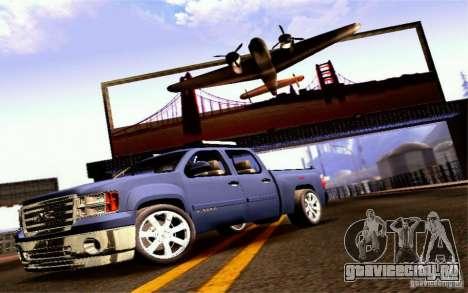 GMC Sierra 2011 для GTA San Andreas вид сзади слева