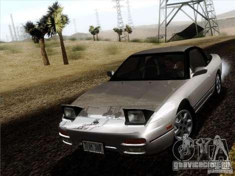Nissan 240SX S13 - Stock для GTA San Andreas вид сзади слева