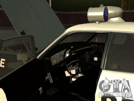 Dodge Polara Police 1971 для GTA San Andreas вид сзади