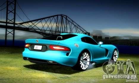 Dodge Viper SRT  GTS для GTA San Andreas вид сзади слева