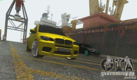 BMW X5M Gold Smotra v2.0 для GTA San Andreas вид слева