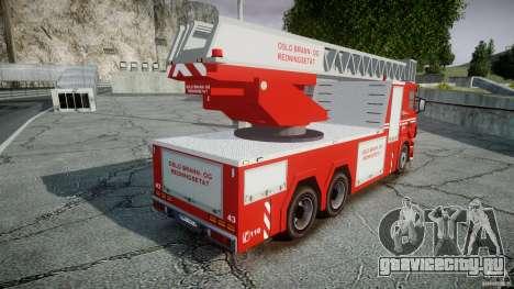 Scania Fire Ladder v1.1 Emerglights blue-red ELS для GTA 4 вид сверху