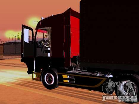 Mercedes Benz Actros MP4 для GTA San Andreas вид снизу