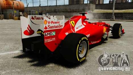 Ferrari F2012 для GTA 4 вид сзади слева