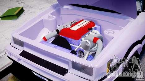 Toyota AE86 TRUENO Initial D для GTA 4 вид изнутри