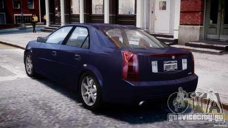 Cadillac CTS для GTA 4 вид сзади слева