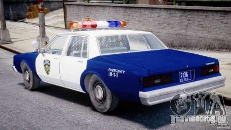 Chevrolet Impala Police 1983 для GTA 4 вид справа