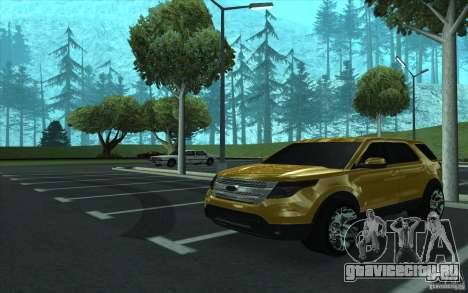 Ford Explorer Limited 2013 для GTA San Andreas вид изнутри