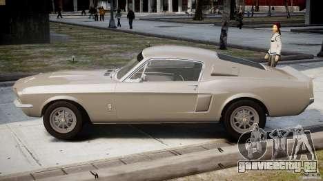Shelby GT500 1967 для GTA 4 вид слева