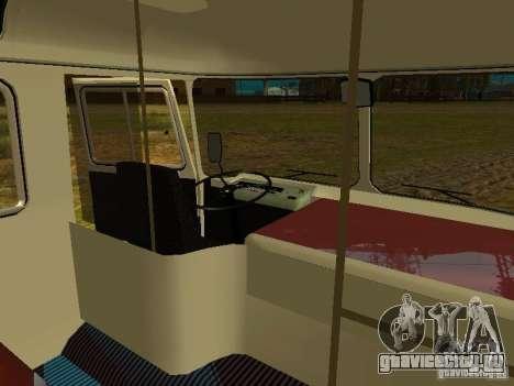 ПАЗ 672.60 Открытый для GTA San Andreas вид изнутри
