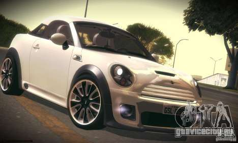 Mini Concept Coupe 2010 для GTA San Andreas вид слева