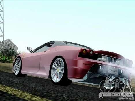 Ferrari F430 Scuderia Spider 16M для GTA San Andreas вид сзади слева
