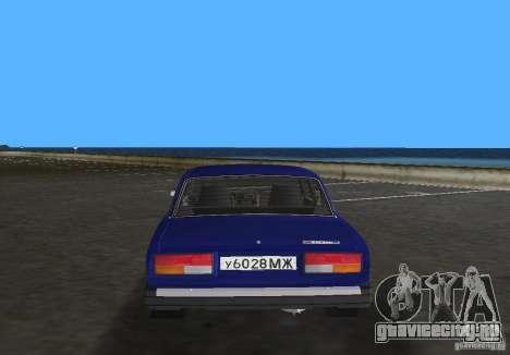 ВАЗ 2107 Жигули для GTA Vice City вид сзади слева