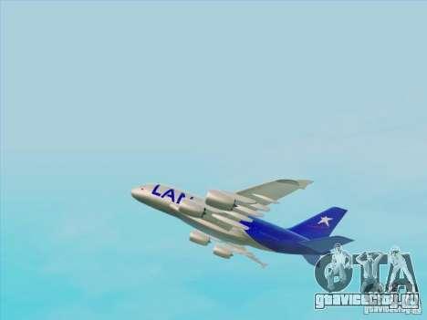 Airbus A380-800 Lan Airlines для GTA San Andreas вид справа