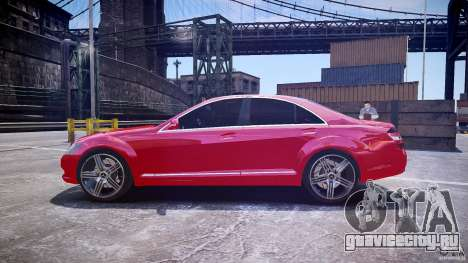 Mercedes Benz w221 s500 v1.0 cls amg wheels для GTA 4 вид слева
