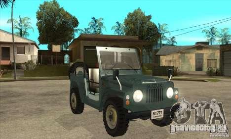 Suzuki Jimny для GTA San Andreas вид сзади