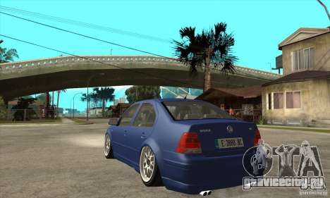 VW Bora VR6 Street Style для GTA San Andreas вид сзади слева