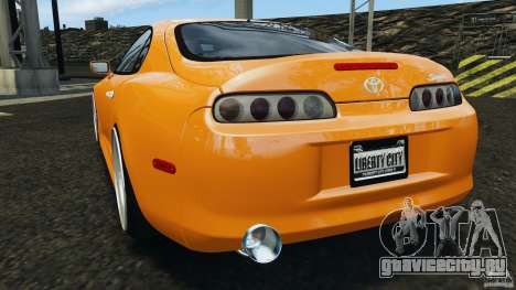 Toyota Supra Tuning для GTA 4 вид сзади слева