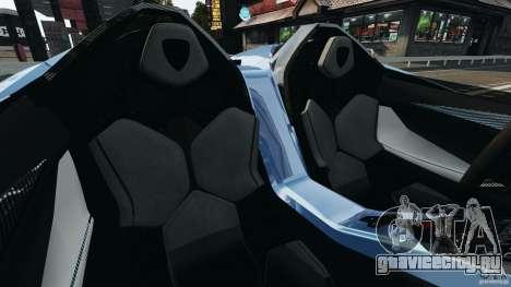 Lamborghini Aventador J 2012 для GTA 4 вид изнутри