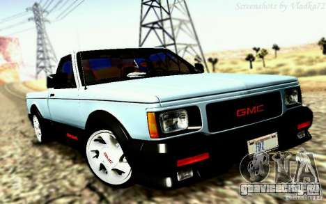 GMC Syclone Stock для GTA San Andreas