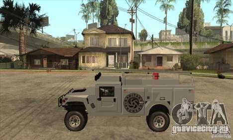 Hummer H1 Utility Truck для GTA San Andreas вид слева