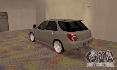 Subaru Impreza WRX Wagon для GTA San Andreas вид справа