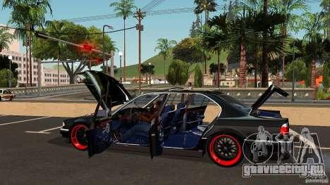 BMW E38 750LI для GTA San Andreas вид снизу