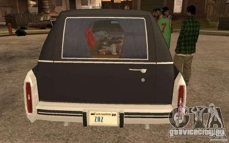 Cadillac Fleetwood Hearse 1985 для GTA San Andreas вид сзади слева