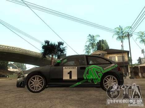 Rover MG ZR EX258 для GTA San Andreas вид слева