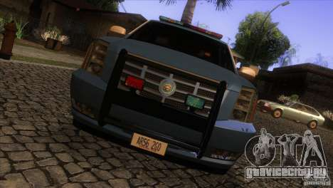 Cadillac Escalade 2007 Cop Car для GTA San Andreas вид изнутри