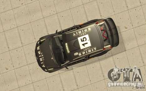 2 покрасочные работы к Ford Focus RS WRC 08 для GTA San Andreas вид изнутри
