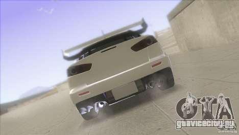 Mitsubishi Lancer Evo IX DIM для GTA San Andreas вид сверху
