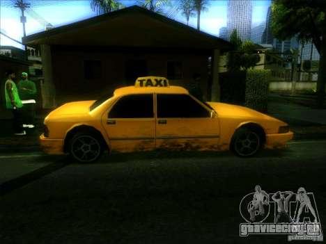 Sunrise Taxi для GTA San Andreas вид слева