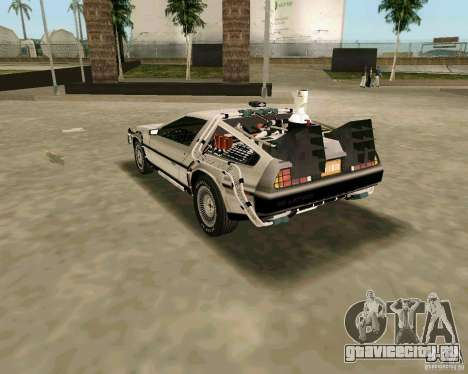 BTTF DeLorean DMC 12 для GTA Vice City вид сзади