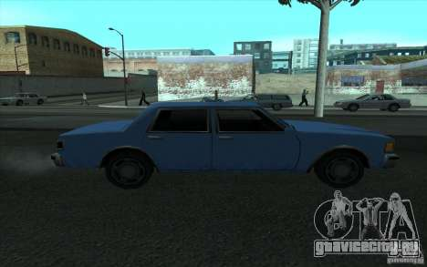 Civilian Police Car LV для GTA San Andreas вид слева