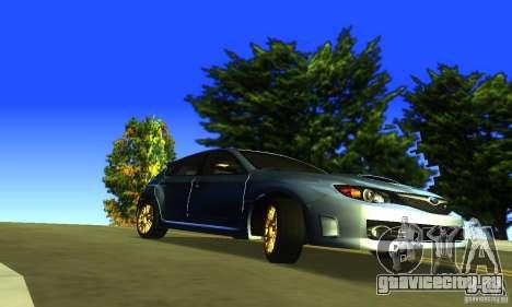 Subaru Impresa WRX STI 2008 для GTA San Andreas вид справа