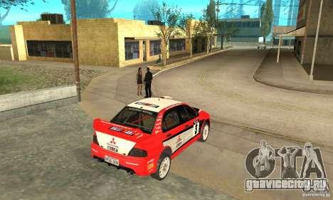 Mitsubishi Lancer Evolution IX для GTA San Andreas салон