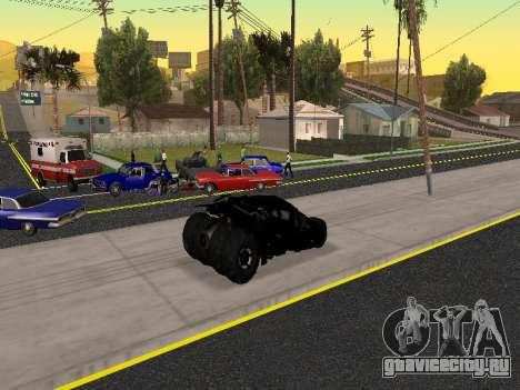 Tumbler Batmobile 2.0 для GTA San Andreas вид сверху