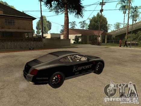 Bentley Continental SS Skin 4 для GTA San Andreas вид сзади слева