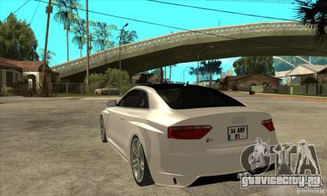 Audi S5 Quattro Tuning для GTA San Andreas вид сзади слева