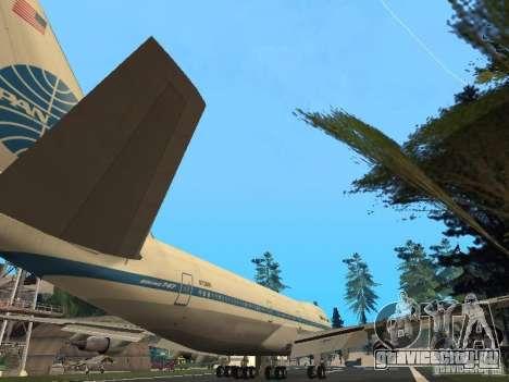 Boeing 747-100 Pan American Airways для GTA San Andreas вид справа