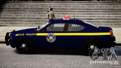 Dodge Charger NY State Trooper CHGR-V2.1M [ELS] для GTA 4 вид сзади слева