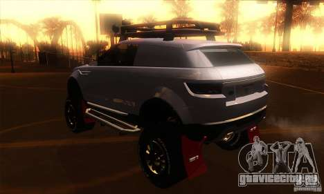 Land Rover Evoque для GTA San Andreas вид сзади слева